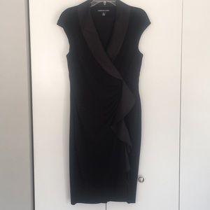 American Living black fancy tuxedo dress nwot 14